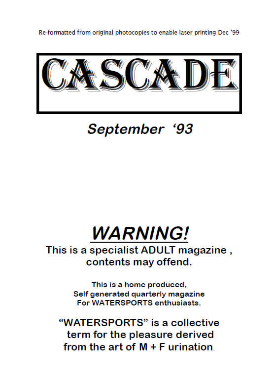 cascade panties pissing magazine from sept 1993