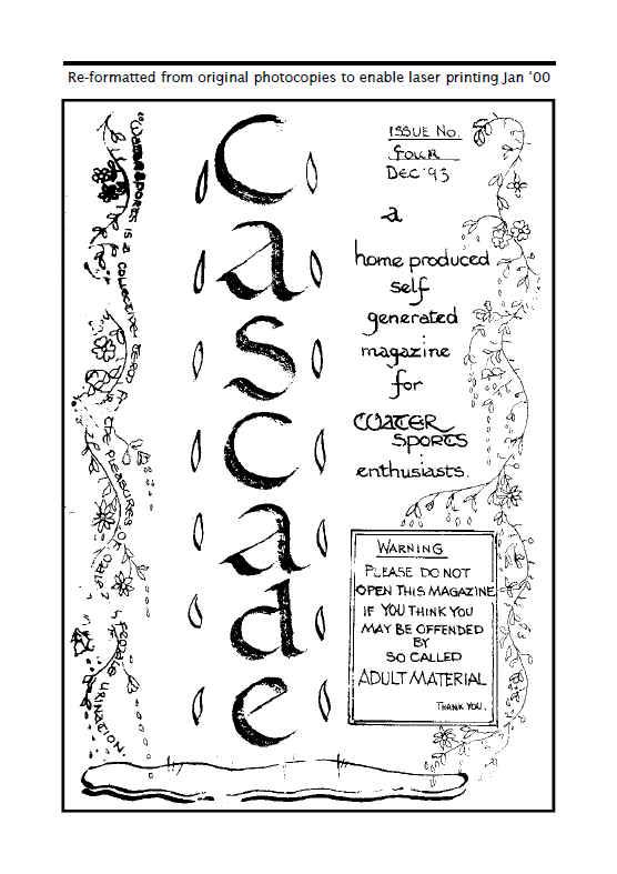 xmas 1993 edition of cascade knicker wetting mag