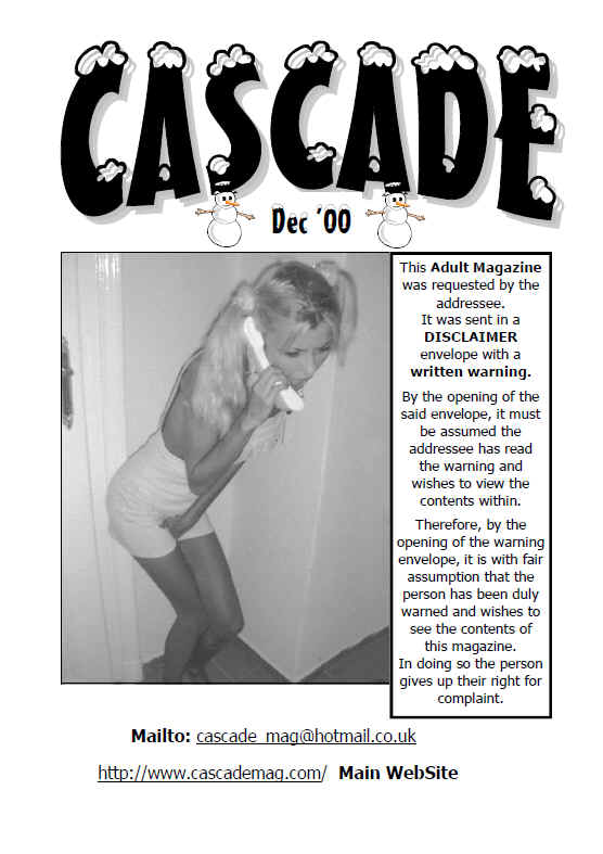 old back issue of cascade watersports magazine from dec 2000